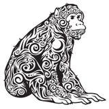 Un in bianco e nero modellato scimmia Fotografie Stock