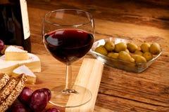 Un bicchiere di vino rosso Immagini Stock Libere da Diritti