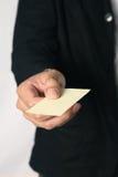 Un biglietto da visita in bianco Fotografia Stock Libera da Diritti