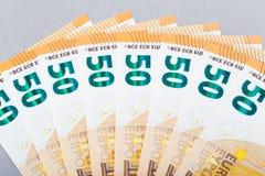 Un biglietto di 50 euro Fotografia Stock Libera da Diritti