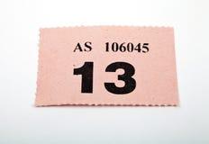 Un biglietto di Raffle fotografia stock libera da diritti
