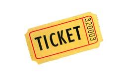 Un biglietto su priorità bassa bianca immagini stock libere da diritti