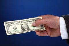 Un billet d'un dollar Images stock