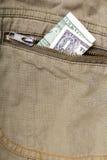 Un billet d'un dollar Photo libre de droits