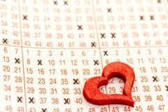 un billet de loterie Photographie stock libre de droits