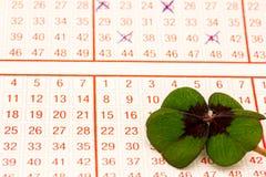 un billet de loterie Photos libres de droits