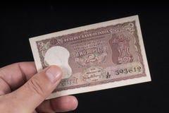 Un billete de banco indio viejo imagen de archivo