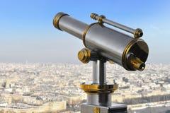 Telescopio de la torre Eiffel Imagen de archivo libre de regalías