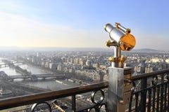 Telescopio de la torre Eiffel Fotografía de archivo