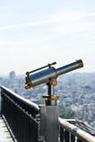 Un binoculare sulla Torre Eiffel. Fotografia Stock