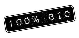 un bio- timbro di gomma di 100 per cento Fotografie Stock Libere da Diritti