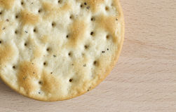 Un biscuit rond photos stock