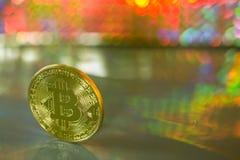 Un bitcoin Fotografie Stock