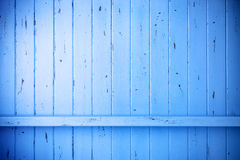 Fond rustique en bois peint par bleu Images stock