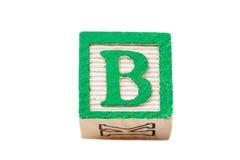 Un bloc d'alphabet Photographie stock