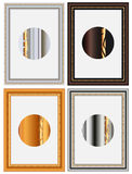 Un blocco per grafici delle quattro foto Illustrazione di Stock