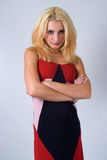 Un Blonde con un atteggiamento Fotografia Stock