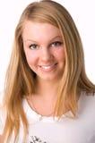 Un blonde sonriente imagenes de archivo