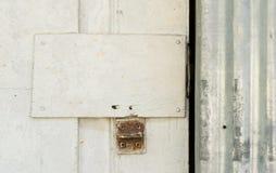 Un bloqueo oxidado Imagen de archivo