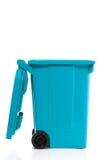 Un blu ricicla lo scomparto Fotografie Stock Libere da Diritti