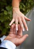 Un boda-anillo Fotos de archivo