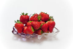 Un bol de la fraise Photos stock