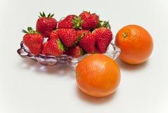 Un bol de la fraise Photo stock