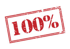 un bollo di 100 per cento su fondo bianco Fotografia Stock Libera da Diritti