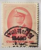 Un bollo stampato in Tailandia mostra principe di re Bhumibol Adulyadej del Siam, circa 1997, baht 2 Fotografia Stock Libera da Diritti