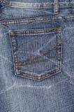 Un bolsillo azul de la mezclilla del denium foto de archivo libre de regalías