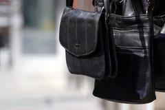 Un bolso negro Imágenes de archivo libres de regalías