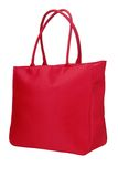 Un bolso rojo del paño Imagenes de archivo