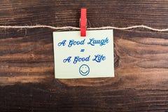 Un bon égal de rire par bonne vie Photographie stock