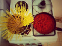 Un bon déjeuner italien Images stock