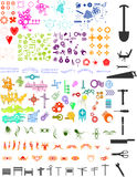 Un bon nombre d'éléments illustration de vecteur
