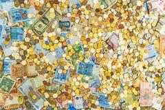Un bon nombre d'argent différent image libre de droits