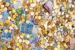 Un bon nombre d'argent différent photo libre de droits