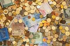 Un bon nombre d'argent différent photo stock