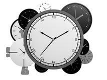 Un bon nombre d'horloges Photographie stock libre de droits