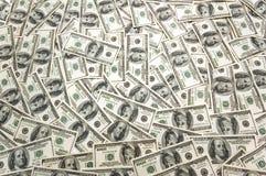 Un bon nombre de billets de banque du dollar image stock