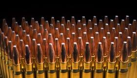 Un bon nombre de cartouches AR-10 Photos stock