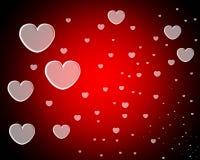 Un bon nombre de coeurs d'amour Images stock