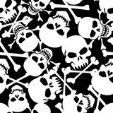 Un bon nombre de crânes. illustration stock