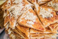 Un bon nombre de cuisson préparés de pain déchiqueté sec épicé de porc photo libre de droits