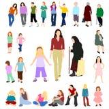 Un bon nombre de femmes et de filles ont placé 02 Photographie stock