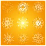 Un bon nombre de flocon de neige Images libres de droits