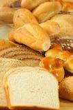 Un bon nombre de pains savoureux Photographie stock