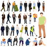 Un bon nombre de positionnement de couleur des hommes 01 Photographie stock libre de droits