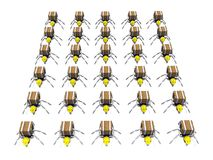 Un bon nombre de travailleurs de fourmis Photos stock