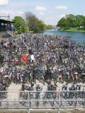 Un bon nombre de vélos Photo libre de droits